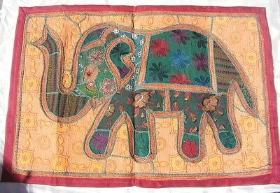 Ethnic Vintage Wall Hanging Tapestry Patch Work Embroidered Elephant Home Decor