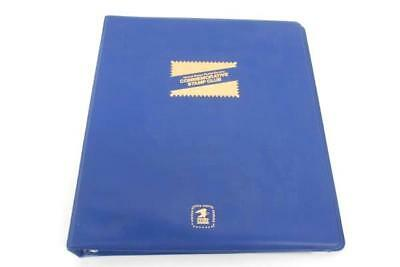 USPS Commemorative Stamp Club Album Blue Binder Empty With Clear Display Pages