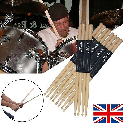 "UK Drum Sticks 5A 16"" Drumsticks Maple High Quality Wood Premium Percussion Feel"