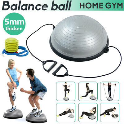 Balance Ball Gym Bosu Training Pilates Exercise Half Fitness Home W/ Pump&Band