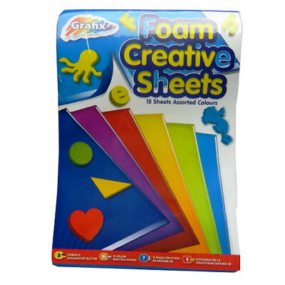 "A5 Foam Creative Coloured Sheets - Pack of 15 – Mixed Colours, Size 8.3"" x 5.8"""