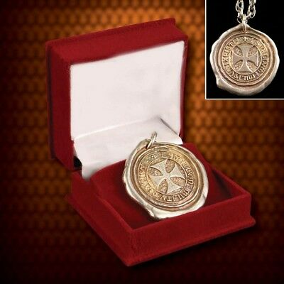 Seal of the Knights Templar Pendant / Necklace. Ideal for Medieval Costume
