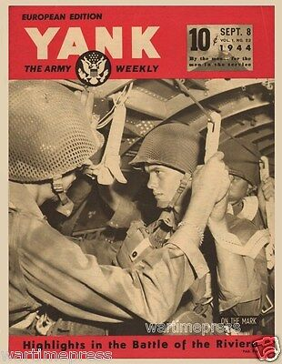 5 New Postcards - US Paratroopers Jumping in Southern France Invasion 1944 YANK