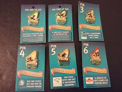 TABARET # 1 - 6 Melbourne 2006 Commonwealth Games Full Set Pins Badges Karak
