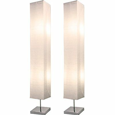 Light Accents Honors Chrome Floor Lamp Japanese Style Standing 50 Inches Tall wi