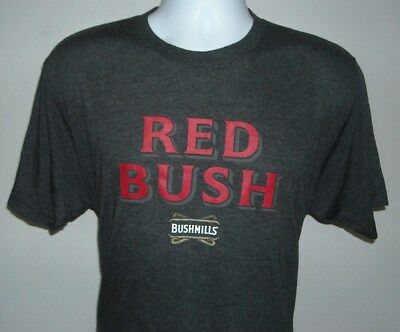 Red Bush T-Shirt Bushmills Distillery Irish Whiskey Ginger Head St Patrick Day M
