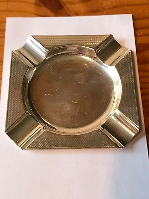 beautiful HEAVY solid silver art deco ashtray low start no reserve FREE P&P