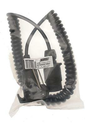 Maypole 5886 12N Curly Extension Lead - Black - Trailer - Caravan
