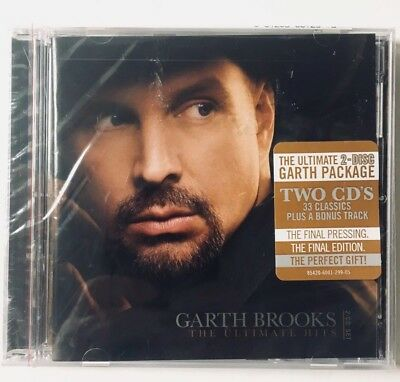 GARTH BROOKS The Ultimate Hits Greatest Hits New & Sealed SET With 2 CD