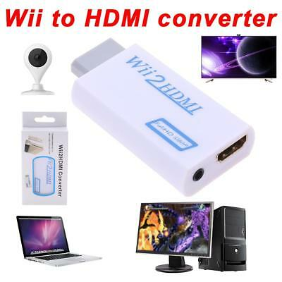 BW#A Full HD Wii To HDMI 1080P Upscaling Converter Adapter With 3.5 mm Audio Out