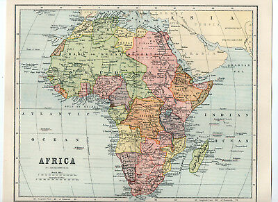 Map Of Africa Antique W&R Chambers