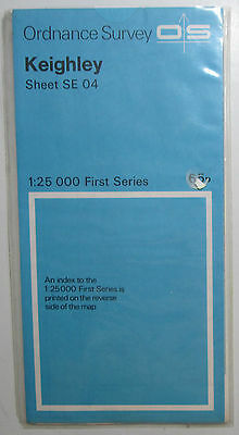 1958 old vintage OS Ordnance Survey 1:25000 First Series Map SE 04 Keighly