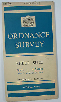 1958 old vintage OS Ordnance Survey 1:25000 First Series Map SU 22 Whiteparish