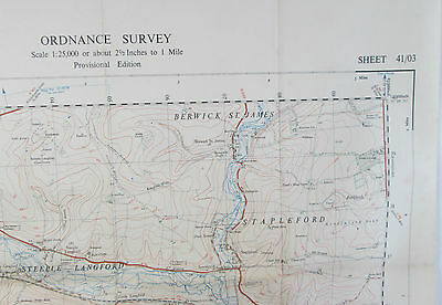 1949 old OS Ordnance Survey 1:25000 First Series prov Map SU 03 Wilton 41/03