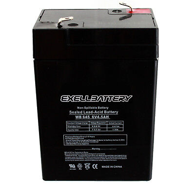 SEALED POWER SP645    6V4.5AH RECHARGEABLE BATTERY  NON SPILLABLE NEW