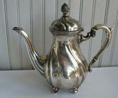 Vtg GERMAN 835 SILVER TEAPOT teapot 700 grams Handcrafted L & CO #3370