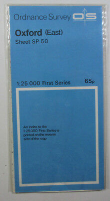 1968 Viintage OS Ordnance Survey 1:25000 First Series Map SP 50 Oxford (East)