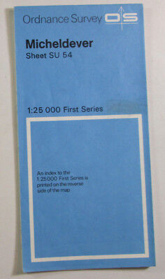 1972 Old Vintage OS Ordnance Survey 1:25000 First Series Map SU 54 Micheldever