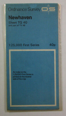 1969 Old Vintage OS Ordnance Survey 1:25000 First Series Map TQ 40 Newhaven