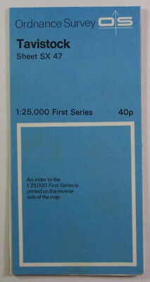 1959 Old Vintage OS Ordnance Survey 1:25000 First Series Map SX 47 Tavistock