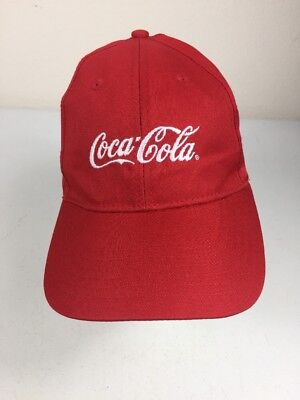 bf73a30b5ce Coca-Cola Logo Embroidered Baseball Strapback Hat Cap Adjustable Red