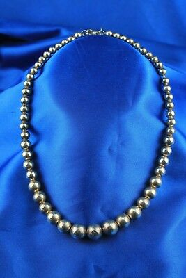 Tiffany & Co Sterling Silver Graduated Bead Necklace 16""