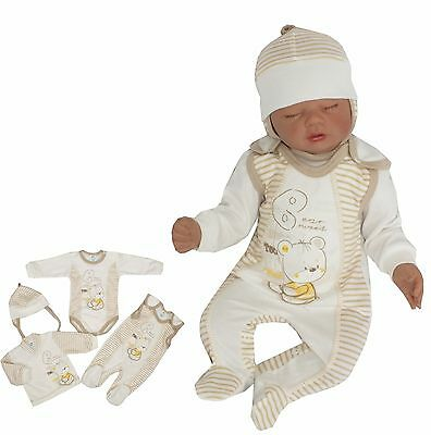 4 Tlg Set Baby Starterset First Outfit 50 56 62