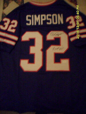 42ec42b8e Buffalo Bills OJ Simpson Autographed Jersey With Inscription  COA