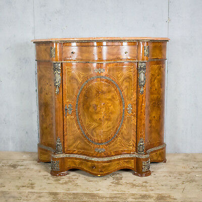 Beautiful Antique French Serpentine Fronted, Cupboard, Buffet, Sideboard