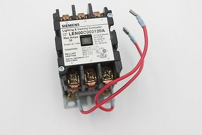 Siemens Len00C003120A Lighting & Heating Contactor