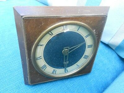Vintage Scottish Art Deco Mantel Desk Clock - Wind Up Movement - Glen Scotland