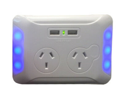 Eversure Clip Over Power Point with 2 x USB Ports