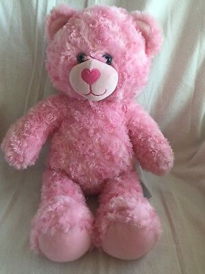 "64458d76d3e Build A Bear Pink Bear Plush Stuffed Animal 16"" Super Soft"