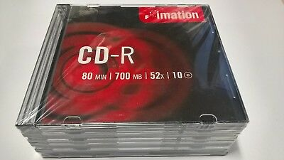 Imitation brand CD-R discs x10 in cases 700mb 52x blank media