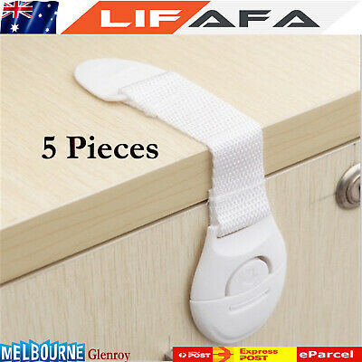 5Pcs Baby Kids Child Adhesive Safety Lock For Cabinet Door Drawers Refrigerator