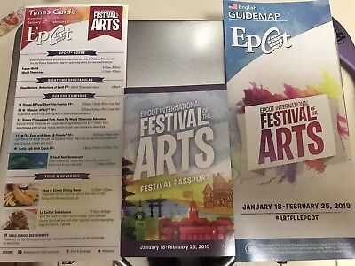 Disney World Epcot Festival Of The Arts Map Time Guide Passport NEW 2019 WDW