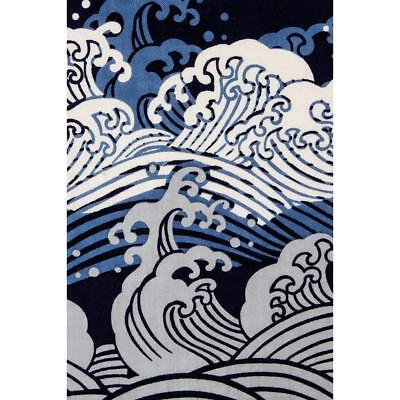 TENUGUI Japanese Cotton Fabric Cloth Towel MADE IN JAPAN 90x34 cm Great Wave T2