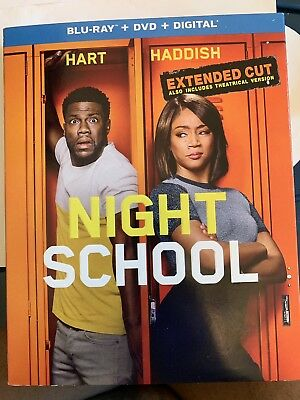 Night School Extended Cut (Blu-ray + DVD + Digital; 2018) NEW with Slipcover