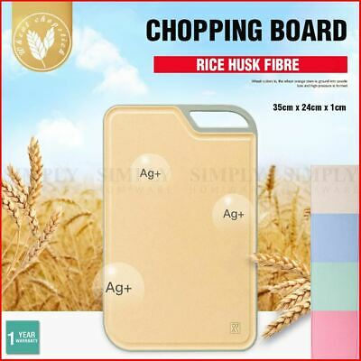 Rice Husk Chopping Board Cutting Large Butchers Block Kitchen Chop Meat BPA Free