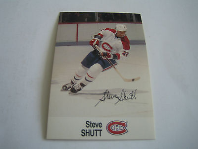 1988/89 Esso Nhl All-Star Collection Steve Shutt Card***montreal Canadiens***