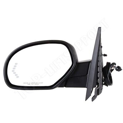 Driver Side Mirror Power Fold Memory Heated Puddle Signal Black For Chevy GMC