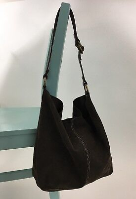 LUCKY BRAND LARGE Brown Leather Slouchy Boho Shoulder Bag -  40.00 ... d4770087ac184