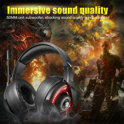 ONIKUMA K6 LED Light Gaming Headset Stereo Noise-cancellation Wired Headphone U