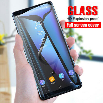 For Samsung Galaxy Note 9 S9 Plus 6D Tempered Glass Full Cover Screen Protector