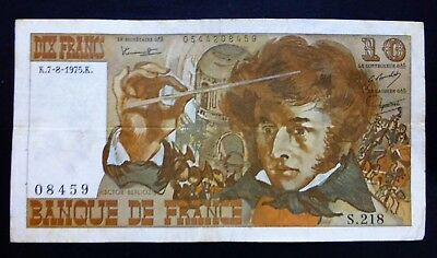 FRANCE 10 Francs 1975 - HECTOR BERLIOZ Banknote