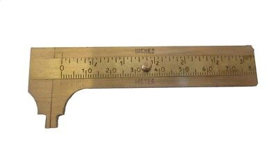 Antique Style Solid BRASS Pocket Vernier Calipers - Maritime / Nautical (5146)