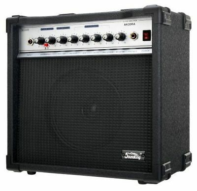 "SEHR GUT: Soundking AK20-RA Gitarrencombo schwarz (60 Watt, 8"" Speaker, 2 Kanal"