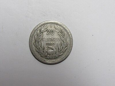 Old Chile Coin - 1932 20 Centavos - Circulated, spots