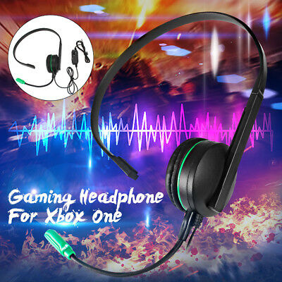 Wired Chat Headset Headphones Head Phone Mic Microphone For Xbox One PS4 Game