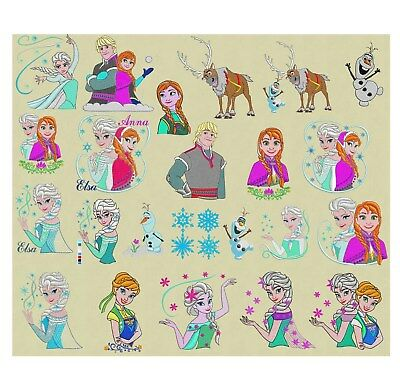 Embroidery designs 26 Frozen Elsa Anna Disney Link to download pes 4x4